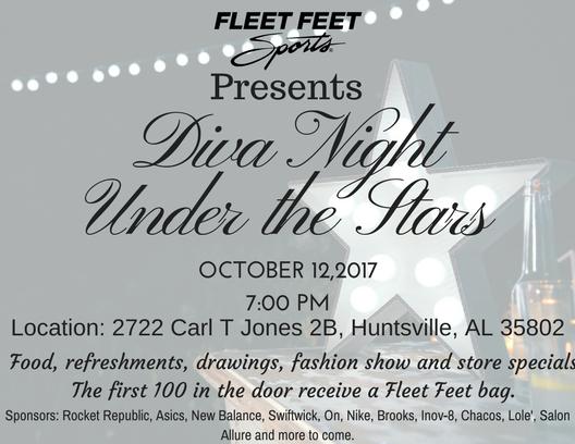 f306508a2e2 Diva Night - Fleet Feet Sports Huntsville